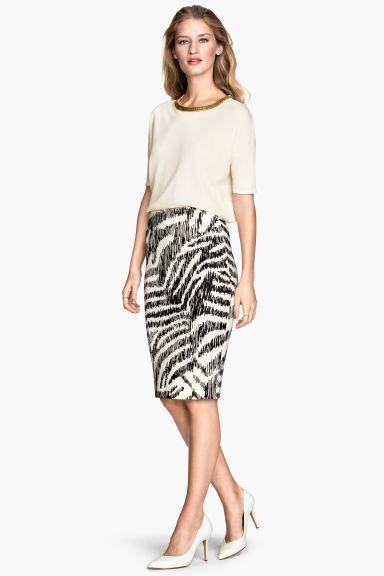 Новая монохромная юбка-карандаш H&M