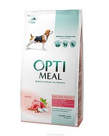 Optimeal (Оптимил) корм для взрослых собак средних пород с индейкой, 1,5 кг