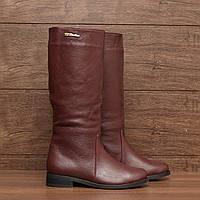 7124.1| (36; 39) Женские сапоги зимние на низком каблуке без застежки