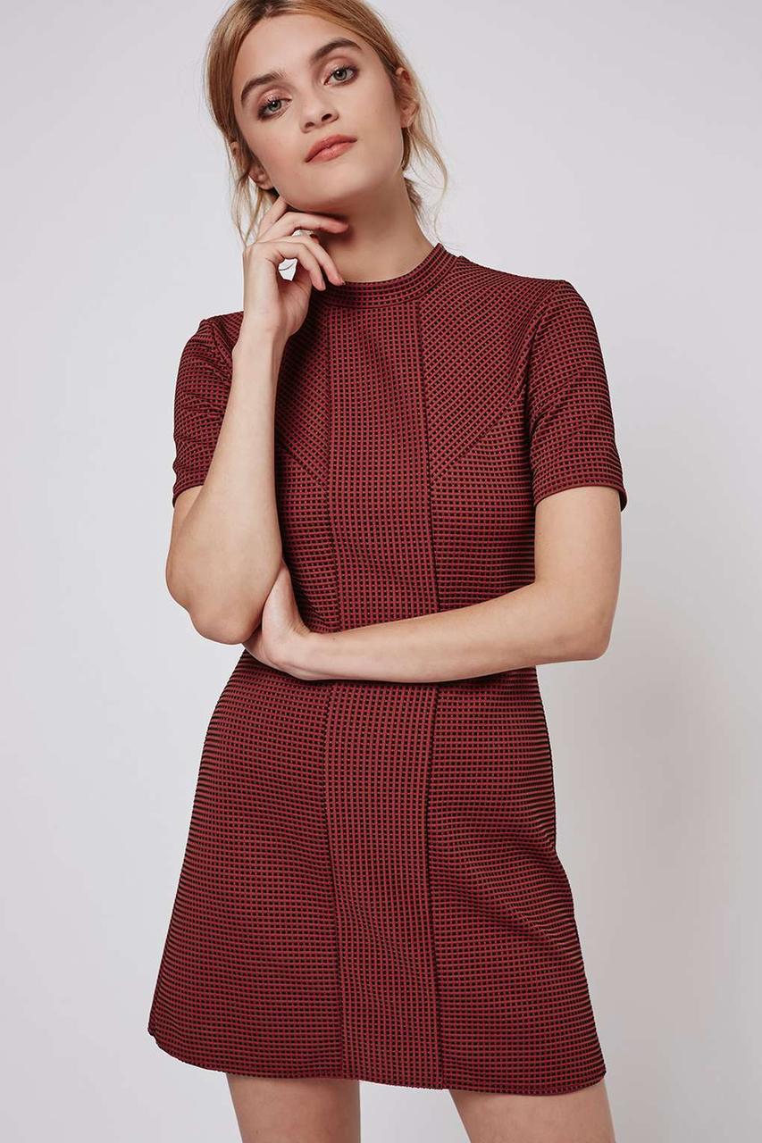 Платье темно-терракотового цвета Topshop