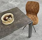 Стол обеденный стеклянный HORIZON Halmar серый, фото 4