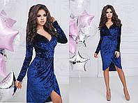 Платье мраморный велюр МОД№2081 норма  (НИН55)