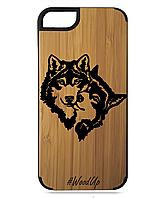 Деревянный чехол на Iphone 6 plus  с лазерной гравировкой