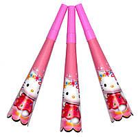 "Горны карнавальные ""Hello Kitty"". В упак: 8 штук."