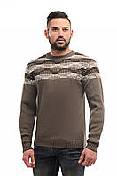 Мужской свитер вязаный бежевый