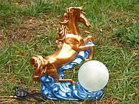 Светильник Лошадь на волнах 43 см. Декор сувенир