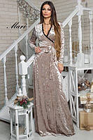 Мраморное вечернее платье в пол тв-12035-4