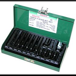 Инструмент HANS. Набор бит TORX (30/75 мм), Т20-Т55. 15 предметов. (06415)