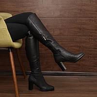 Женские высокие сапоги на устойчевом каблуке  Мод (7122.1) раз: 37