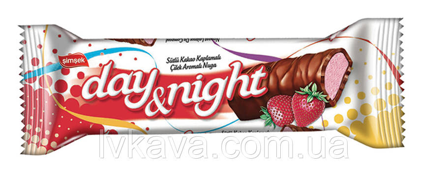 Шоколадный батончик Day Night with Strawberry  Simsek , 22 гр, фото 2