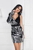 Платье женское вечернее с двухсторонними пайетками