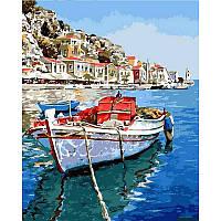 """Картины по номерам 40 х 50 см.""""Лазурные воды Греции"""""""