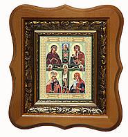 Четырехчастная икона Богородицы