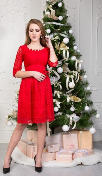 963b700cfb5 Короткое красное платье гипюр   продажа