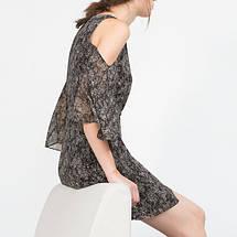Платье с открытыми плечами Zara, фото 2
