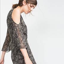 Платье с открытыми плечами Zara, фото 3