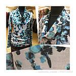 Свитер теплый вязаный ангоровый , серо-голубой  размеры 48-54 ., фото 4