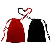 Набор бархатных мешочков для карт таро Чёрный и Бардовый ( 12 х 17 см )