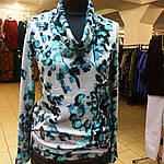 Свитер теплый вязаный ангоровый , серо-голубой  размеры 48-54 ., фото 2