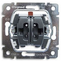 Legrand Galea Life выключатель 2-х клавишный Pro21