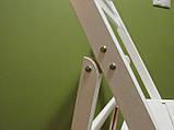 """Раскладной стул """"Компакт"""" (белый) из дерева БУК, фото 3"""