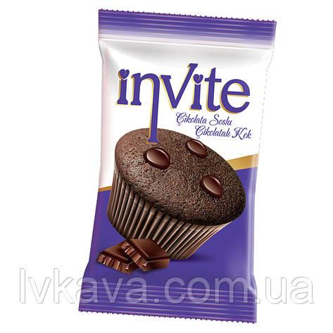 Мафин кекс  INVITE c шоколадным соусом , 25 гр , фото 2