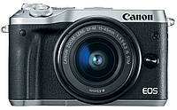 Фотокамера бездзеркальна Canon EOS M6 Kit 15-45 IS STM Silver (1724C043)