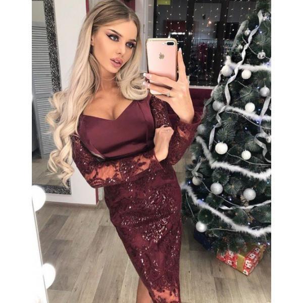 Шикарное вечернее платье с вышивкой гипюр и пайетки  продажа, цена в ... 066cab55b7e