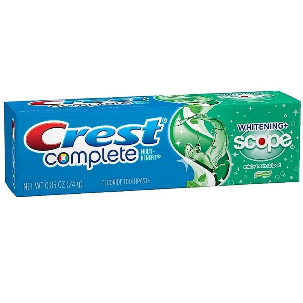 Отбеливающая и освежающая зубная паста Crest Complete Whitening + Scope Minty Fresh 24 g