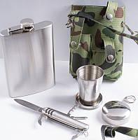 Набор в комуфляжном чехле Фляга, Стакан, Нож PT-9-2 Код:426322234