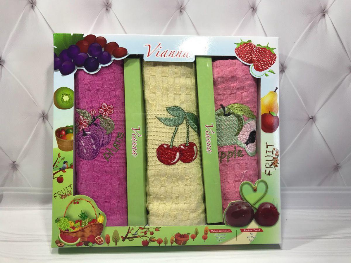 Подарочный набор вафельных кухонных полотенец Vianna № 32597