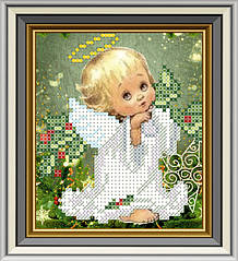 МЛ-26. Схема для вишивки бісером Новорічний ангелочок.