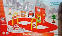 Конструктор 861 Пожарная часть (36 деталей), фото 1