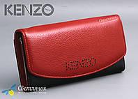 Кошелек женский кожаный KENZO KE5890 EA красно-черный