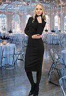 Облягаюче довге чорне плаття під шию Marvin (S-M, M-L)