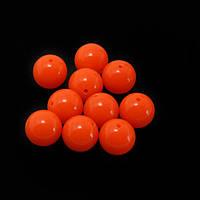Бусина акриловая, цвет Fluo Orange, 10мм*1шт