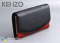 Кошелек женский кожаный KENZO KE5890 AE черно-красный