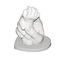 """Набор для создания 3D слепка рук """"Мама и ребенок"""" с гипсовой подставкой"""