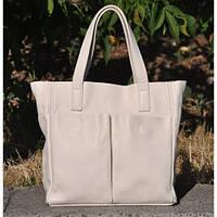 Кожаная женская сумка Палермо молочная