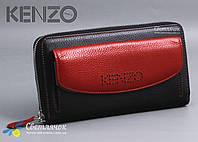 Кошелек женский кожаный KENZO KE5539 EA красно-черный