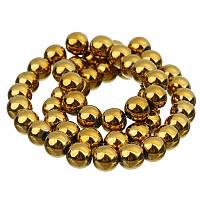 Бусина Gold Hematite 8 мм