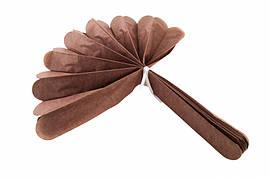 Помпон из тишью, коричневый, 25 см