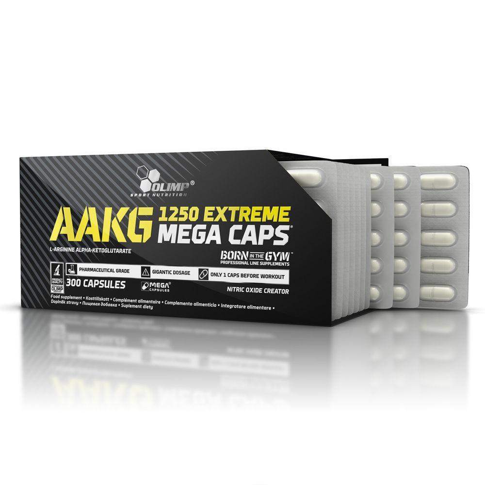 No, предтренировочники Olimp AAKG 1250 Extreme Mega Caps 300 caps