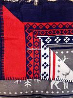 Плед ТАС новогодний  200х220см Snow red  красно-синий