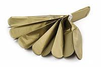 Помпон из тишью, золотой, 25 см