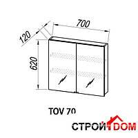Зеркальный шкаф Kolpa-san Viva TOV 70 (white), фото 1