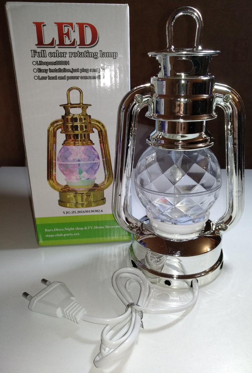Диско лампа Фонарь LED светодиодная, вращающаяся