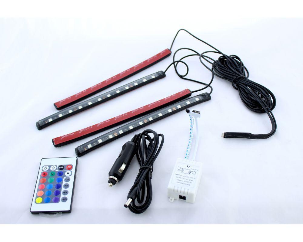 Подсветка салона Цветная RGB Led + Пульт.