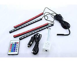 Подсветка салона Цветная RGB Led + Пульт, Микрофон 10 LED