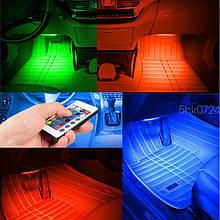 Подсветка салона авто RGB Led + Пульт. Цветная